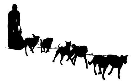 illustratie van een hondenslee Stockfoto