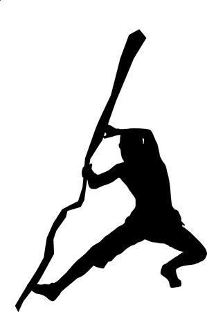 klimmer: silhouet van een klimmer in de spleet