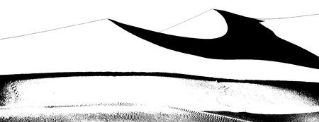 砂漠の砂丘のイラスト