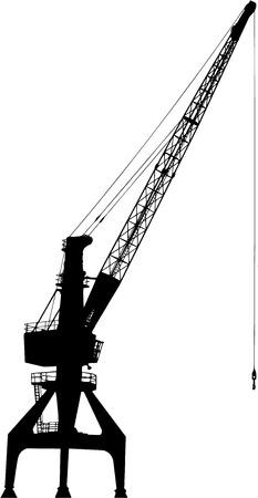 jib: port crane silhouette on white