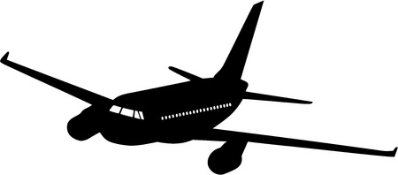 aircraft silhouette on a white  Illustration