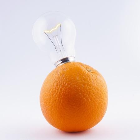 bulb in orange - energy fruits