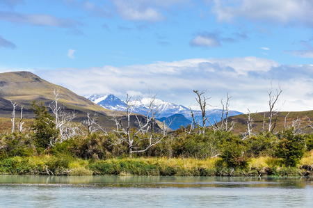 torres del paine: View of the mountains in Torres del Paine, Chile