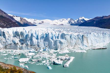 moreno glacier: Perito Moreno Glacier in Ushuaia, Argentina Stock Photo