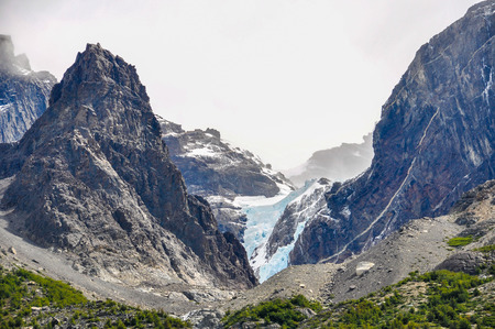 glaciers: One of the several glaciers in the Torres del Paine National Park, Patagonia, Chile