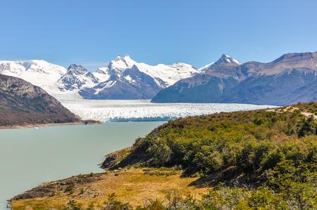 calving: Far view of the Perito Moreno Glacier, Patagonia, Argentina