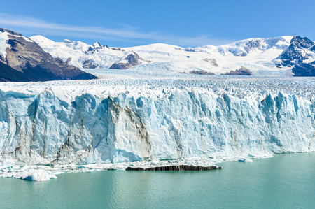 calving: The view of the Perito Moreno Glacier from in front, Patagonia, Argentina
