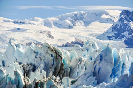 calving: Side view of the Perito Moreno Glacier, Patagonia, Argentina