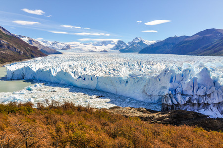 glacier national park: Panoramic view at the Perito Moreno Glacier, Patagonia, Argentina