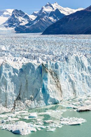 calving: Icy surface of the Perito Moreno Glacier, Patagonia, Argentina
