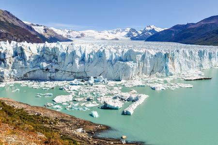 perito: Front view at the Perito Moreno Glacier, Patagonia, Argentina