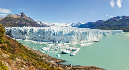 Panorama view at the Perito Moreno Glacier, Patagonia, Argentina
