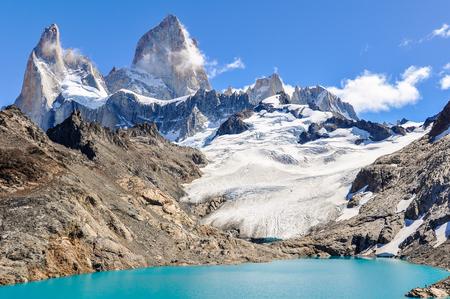 fitzroy: At the lagoon, Fitz Roy Walk, El Chalten, Patagonia, Argentina Stock Photo