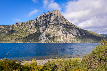 huapi: Nahuel Huapi Lake, Road of the Seven Lakes, Patagonia, Argentina Stock Photo