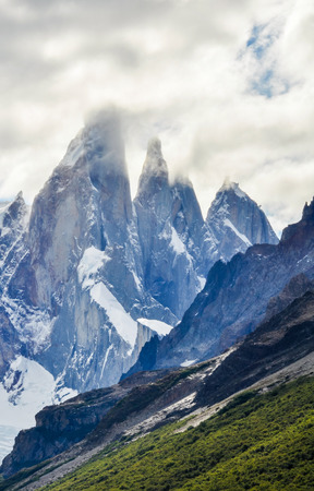 chalten: The view of the peaks, Cerro Torre Walk, El Chalten, Patagonia, Argentina Stock Photo
