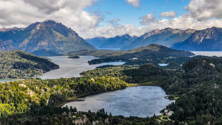 View of the lake area close to Bariloche, Patagonia, Argentina