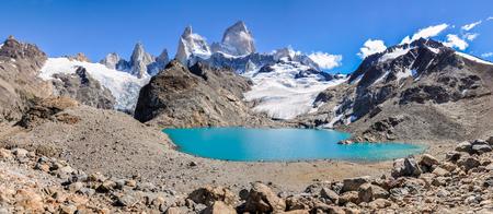 cerro fitzroy: the lagoon in Fitz Roy Walk, El Chalten, Patagonia, Argentina