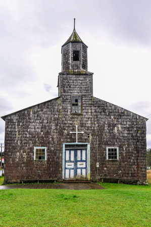 unesco: UNESCO World Heritage Wooden Church, Chiloe Island, Patagonia, Chile