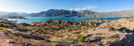 View of the Potrerillos Dam, Mendoza, Argentina