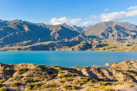 lake argentina: View of the Potrerillos Dam, Mendoza, Argentina