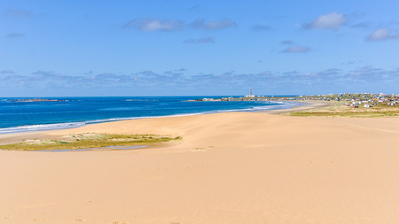 cabo: Beach in the hippy village of Cabo Polonio in Uruguay. Stock Photo