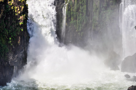 wonders: Powerful falls at Iguazu Falls, one of the New Seven Wonders of Nature, Argentina