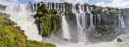 wonders: Panorama at Iguazu Falls, one of the New Seven Wonders of Nature, Argentina