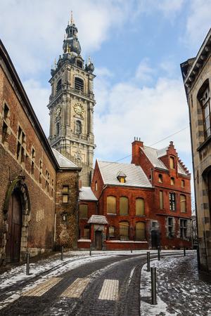 european culture: Bell tower in Mons, the European Capital of Culture 2015, Belgium