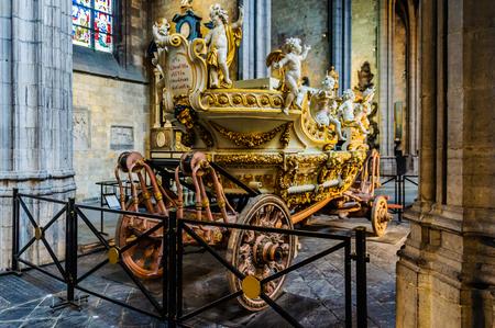 european culture: Golden chariot in Mons, the European Capital of Culture 2015, Belgium
