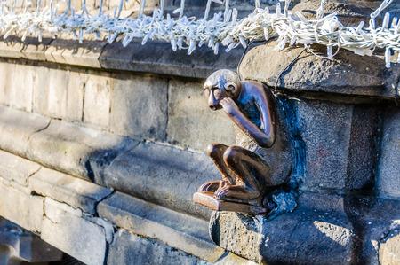 european culture: Monkey sculpture in Mons, the European Capital of Culture 2015, Belgium