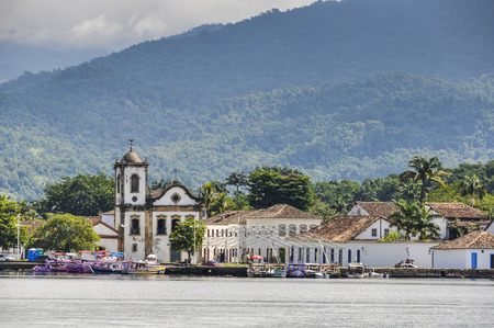 View from the sea in Paraty, Green Coast, Brazil Stock Photo