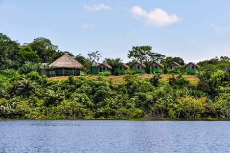 amazon rainforest: Local huts in the Amazon Rainforest, close to Manaus, Brazil Stock Photo