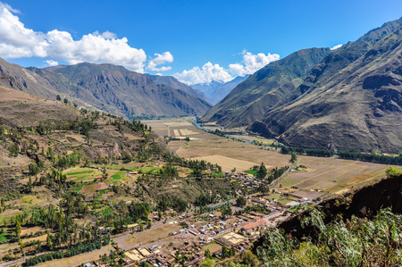 sacred valley of the incas: View from the top in the Sacred Valley of the Incas, Peru