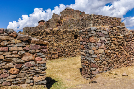 sacred valley of the incas: Ruins of Pisac in the Sacred Valley of the Incas, Peru