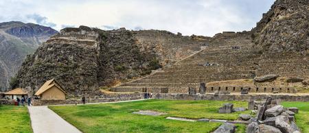sacred valley of the incas: Ruins of the ancient city of Ollantaytambo in the Sacred Valley of the Incas, Peru