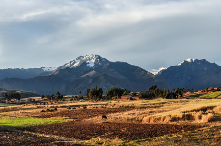 sacred valley of the incas: Rural landscape in the Sacred Valley of the Incas, Peru