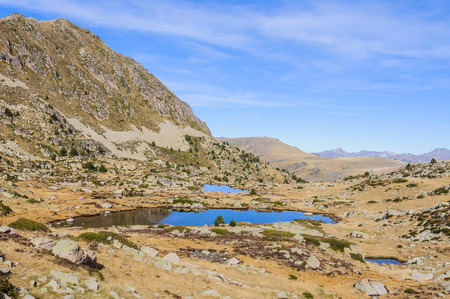 tourism in andorra: Solana lakes in the circuit of Lake Pessons, Andorra