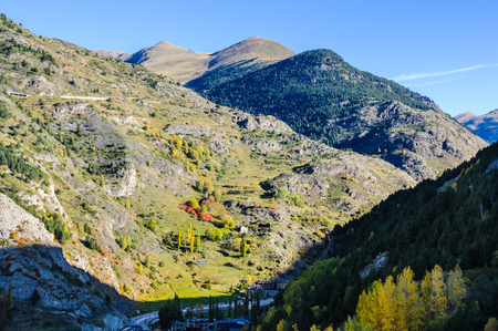 tourism in andorra: Panoramic view of the mountains around the valley of Canillo, Andorra