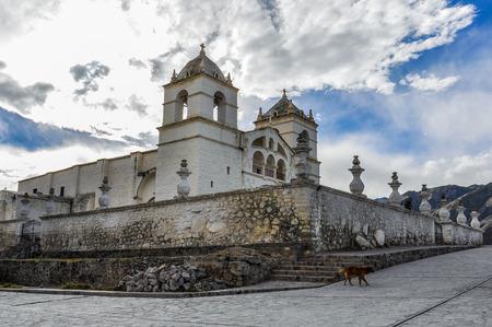 colonial church: Colonial church in the deep Colca Canyon, Peru