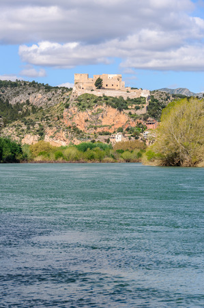 other side of: Medieval castle from the other side of the Ebro, Catalonia, Spain