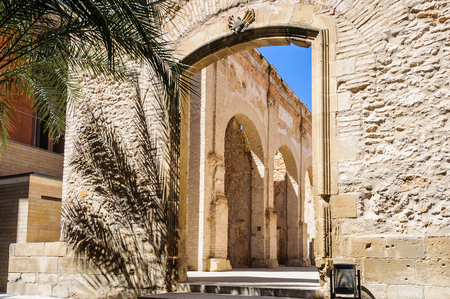 ebre: Through the gate in the Castle of Tortosa in Catalonia, Spain