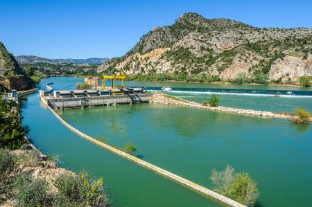 ebre: Dam on the Ebro River in Catalonia, Spain