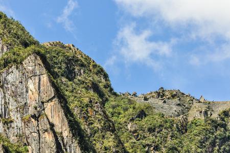inca ruins: Inca ruins in the valley around Machu Picchu, New 7 Wonders of the World, Peru
