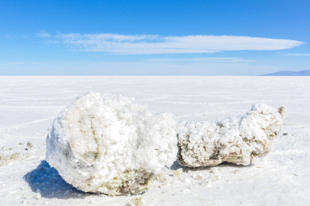 salar de uyuni: Chunk of salt in Salar de Uyuni, the biggest salt flat in the world, Bolivia