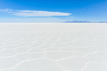 salt flat: View of infinity in Salar de Uyuni, the biggest salt flat in the world, Bolivia