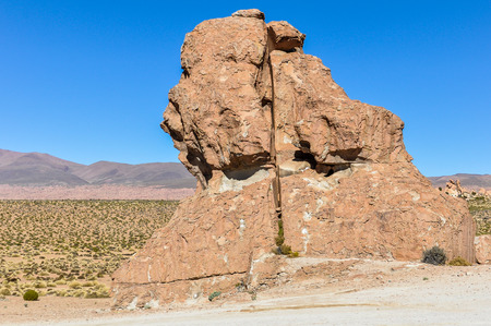high plateau: Strange rock formations in the high Andean plateau in Bolivia