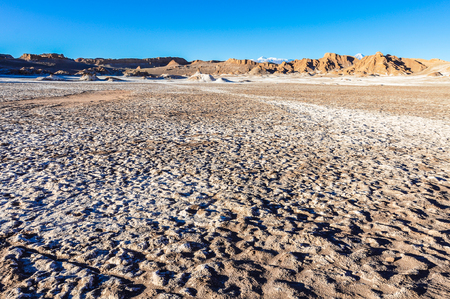 moon  desert: Moon Valley Crater in the arid Atacama Desert in Chile Stock Photo