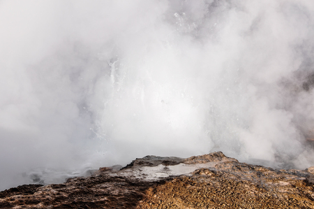 geysers: Boiling water in Tatio Geysers in the Atacama Desert in Chile