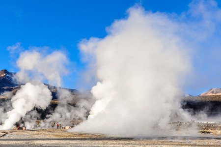 geysers: The active Tatio Geysers in the Atacama Desert in Chile