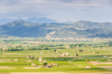 ebre: View of the countryside from a hill near Tivissa in Catalonia, Spain